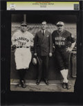 Baseball Collectibles:Photos, 1927 Babe Ruth & Lou Gehrig Oversized Culver Service Photograph. Splendid portrait of these legendary Yankees dating from t...