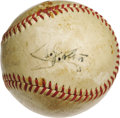 Autographs:Baseballs, 1940's Bill Klem Single Signed Baseball. It's been said that thesign of a good umpire is that nobody notices him, and whil...