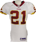 Football Collectibles:Uniforms, 2006 Sean Taylor Game Worn Jersey. The fifth overall pick in the 2004 draft put terrific use into this white mesh gamer dur...