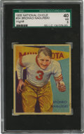 Football Cards:Singles (Pre-1950), 1935 National Chicle Bronko Nagurski #34 SGC VG 40. For collectors who find the remarkable NM 7 example within this auction...
