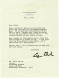 Autographs:Letters, 1991 George H.W. Bush Signed Letter re: First Pitch. The elder Bushsent this personal typed letter to Milwaukee Brewers ge...