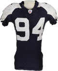 Football Collectibles:Uniforms, 2006 DeMarcus Ware Game Worn Throwback Uniform. The 2005 first round draft pick out of Troy had a huge 2006 season, notchin...