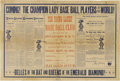 "Baseball Collectibles:Others, 1890 ""The Champion Lady Base Ball Players of the World"" Broadside.A half-century before the arrival of the Racine Belles a..."