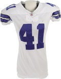 Football Collectibles:Uniforms, 2006 Terence Newman Game Worn Uniform. The star Dallas Cowboys cornerback made seven tackles during his last usage of this ...