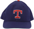 Baseball Collectibles:Uniforms, 1990's Nolan Ryan Game Worn Cap. A perfect complement to the Ryan game worn Texas Rangers jersey also found within this auc...