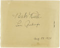 Autographs:Others, 1928 Babe Ruth & Lou Gehrig Signed Album Page. If you'researching for the perfect pairing of these iconic Golden AgeYanke...