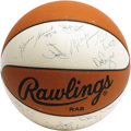 Basketball Collectibles:Balls, 1987-88 Chicago Bulls Team Signed Basketball. The first MVP seasonfor legend in the making Michael Jordan, whose desirable...