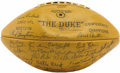 Football Collectibles:Balls, 1962 Green Bay Packers Team Signed Football. It is with no fear of future contradiction that we proclaim this remarkable pi...
