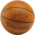 "Basketball Collectibles:Balls, 2001 Allen Iverson Signed Fifty-Four Point Game Used Basketball.""Believe it or not, we tried doubling him,"" explained Clev..."