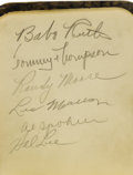 Autographs:Others, 1935 Baseball Autograph Book Signed by Babe Ruth, Mel Ott & More. The opening page of this charming little volume, listing ...