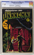 Golden Age (1938-1955):Horror, Adventures Into The Unknown #1 (ACG, 1948) CGC FN/VF 7.0 Cream to off-white pages....