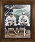 Baseball Collectibles:Others, Babe Ruth & Lou Gehrig Original Artwork by Darryl Vlasak. Largeand magnificent portrait of the heart of Murderers Row is u...