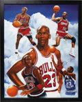 Basketball Collectibles:Others, 1990's Michael Jordan Signed Giclee. Fans of photorealistic artworkwill be stunned by the mastery of this limited edition ...
