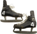 Hockey Cards:Lots, Early 1970's Bobby Orr Game Worn Skates. The most unmistakablefootwear in the history of the NHL. One of the most beloved...