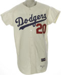 "Baseball Collectibles:Uniforms, 1965 Al Ferrara Game Worn Jersey. Though ""The Bull,"" who grew up as a fan of the Dodgers in the Brooklyn of his childhood, ..."