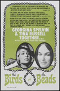 """Movie Posters:Adult, The Birds and the Beads (Unique Films, 1974). One Sheet (27"""" X 41""""). Adult. Starring Georgina Spelvin and Tina Russell. Dire..."""