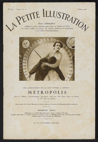 """Metropolis (UFA, 1927). Magazine (12pp) (8"""" X 11.5""""). When Metropolis was premiered in Germany during January..."""