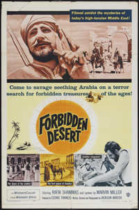 "Forbidden Desert (Warner Brothers, 1957). One Sheet (27"" X 41""). Historical Documentary. Starring Rafik Shamma..."
