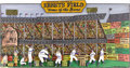 """Baseball Collectibles:Others, """"Ebbets Field"""" Original Artwork by Glaubach. Celebrated Big Apple folk artist Harry Glaubach's unmistakable style is put to..."""