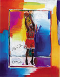Basketball Collectibles:Others, Michael Jordan Signed Peter Max Lithograph. Limited edition (109/423) lithograph proves that Leroy Neiman isn't the only sk...