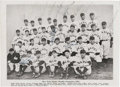 Autographs:Photos, 1933 New York Giants Team Signed Photograph. After relinquishing dominance of the New York City baseball world to the hated...