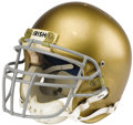 "Football Collectibles:Helmets, 1984 Notre Dame Game Worn Helmet. Fine relic from the Gerry Faust coaching era is a distinctive ""Bike"" model with size of ""..."
