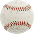 Autographs:Baseballs, 1963 New York Yankees & Los Angeles Dodgers Signed Baseball. Acquired by a lucky fan at the 1963 World Series, this ONL (Gi...