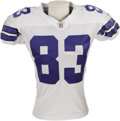Football Collectibles:Uniforms, 2006 Terry Glenn Game Worn Jersey. Eight catches for 150 yards, including a fifty yard long, made the New Orleans game a bi...