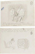 "Original Comic Art:Miscellaneous, Paul Peter Porges - Mad #163 ""Mad's Sure Fire Sports Predictions""Gag Preliminary Sketch Original Art, Group of 8 (EC, 1973)....(Total: 8)"