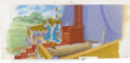 "Animation Art:Production Cel, ""Robin Hood"" Animation Production Cel and Background Original Art(Walt Disney, 1973)...."