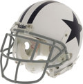 Football Collectibles:Helmets, 2006 Roy Williams Game Worn Throwback Helmet. The four-time Pro Bowler's hard-hitting style is evident in the black scrape ...