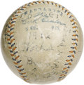 Autographs:Baseballs, 1912 Detroit Tigers Team Signed Baseball. One only states theobvious when characterizing a sphere such as this as tremendo...