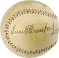 "Autographs:Baseballs, Circa 1915 Sam Crawford Single Signed Baseball. A devastatingcombination of power and speed elevated ""Wahoo Sam"" to the to..."