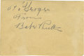 Autographs:Others, 1930's Babe Ruth Signed Album Page. If you ever wondered if perhapsRuth became so accustomed to his famous moniker that he...