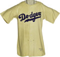 Baseball Collectibles:Uniforms, 1952 Chuck Dressen Game Worn Jersey. With weapons like Jackie, Campy, Pee Wee and the Duke at his disposal, Dressen skipper...