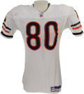 Football Collectibles:Uniforms, 2006 Bernard Berrian Game Worn Uniform. Jersey and pants in the classic Chicago Bears style saw action at the Meadowlands a...