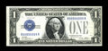 Small Size:Silver Certificates, Fr. 1601 $1 1928A Silver Certificate. Choice Crisp Uncirculated.. This is a great note which bears serial number R99999999A,...