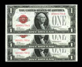 Small Size:Legal Tender Notes, Fr. 1500 $1 1928 Legal Tender Notes. Three Consecutive Examples. Choice Crisp Uncirculated.. Serial numbers 1794-1796 are fo... (Total: 3 notes)