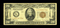 Small Size:World War II Emergency Notes, Fr. 2305* $20 1934A Hawaii Federal Reserve Note. Fine.. This was once a relatively available star, but the supply has been c...