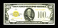 Small Size:Gold Certificates, Fr. 2405 $100 1928 Gold Certificate. Extremely Fine.. An attractive high end $100 Gold, a note which is very difficult to ob...