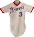 Baseball Collectibles:Uniforms, 1979 Dale Murphy Game Worn Jersey. An early career gamer from the Atlanta fan favorite is the highly collectible four-year ...
