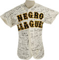 Autographs:Jerseys, 1980's Negro League Players Multi-Signed Jersey. If you're looking for a real challenge, and likely an impossible one, try ...
