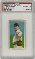 "Baseball Cards:Singles (Pre-1930), 1909-11 T206 John McGraw Glove at Hip PSA NM-MT 8. With a nicknamelike ""Little Napoleon"" it's no wonder that this Hall of ..."