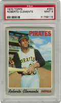 Baseball Cards:Singles (1970-Now), 1970 Topps Roberto Clemente #350 PSA Mint 9. The simple grey borderdesign of the 1970 Topps issue are not as easy to find i...