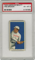 Baseball Cards:Singles (Pre-1930), 1909-11 T206 Tris Speaker PSA EX-MT 6. Despite playing in a time that cast him in Ty Cobb's shadow, Speaker is still recogni...