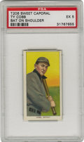 Baseball Cards:Singles (Pre-1930), 1909-11 T206 Ty Cobb Bat on Shoulder PSA EX 5. This tobacco classicfeatures Cobb holding his bat with his signature choked ...