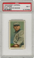 Baseball Cards:Singles (Pre-1930), 1909-11 T206 Cy Young Glove Shows PSA NM 7. The annual Cy Youngaward exhibits the fact that no other pitcher's name is so ...