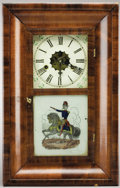 Political:3D & Other Display (pre-1896), Winfield Scott: Rare Mantle Clock with Reverse-on-Glass Portrait on Horseback....