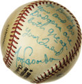"""Movie/TV Memorabilia:Autographs and Signed Items, Tommy Lasorda Signed Baseball to Buddy Ebsen. A Rawlings baseball inscribed """"To Buddy. You and the Dodgers are both great. Y... (Total: 1 Item)"""