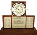 Movie/TV Memorabilia:Awards, Buddy Ebsen's Clock from Crew of Barnaby Jones. Buddy Ebsenwas popular with the crew members of the TV series Bar...(Total: 1 Item)